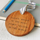 Personalised 'Best Daddy' Wooden Keepsake