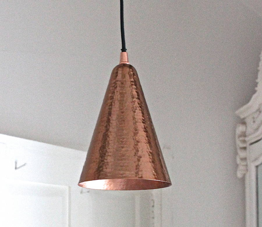 Hammered copper pendant light by the forest co hammered copper pendant light aloadofball
