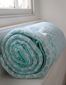 Azure Cotton Quilt - bed, bath & table linen