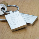 Your Child's Writing Personalised Keyring