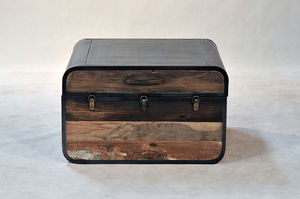 Boatwood Vintage Coffee Table Trunk - furniture