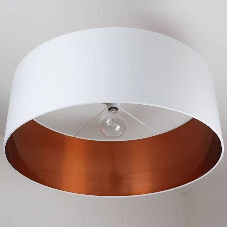 Ceiling Shade: Oversize Brushed Copper Ceiling Pendant Shade By Quirk