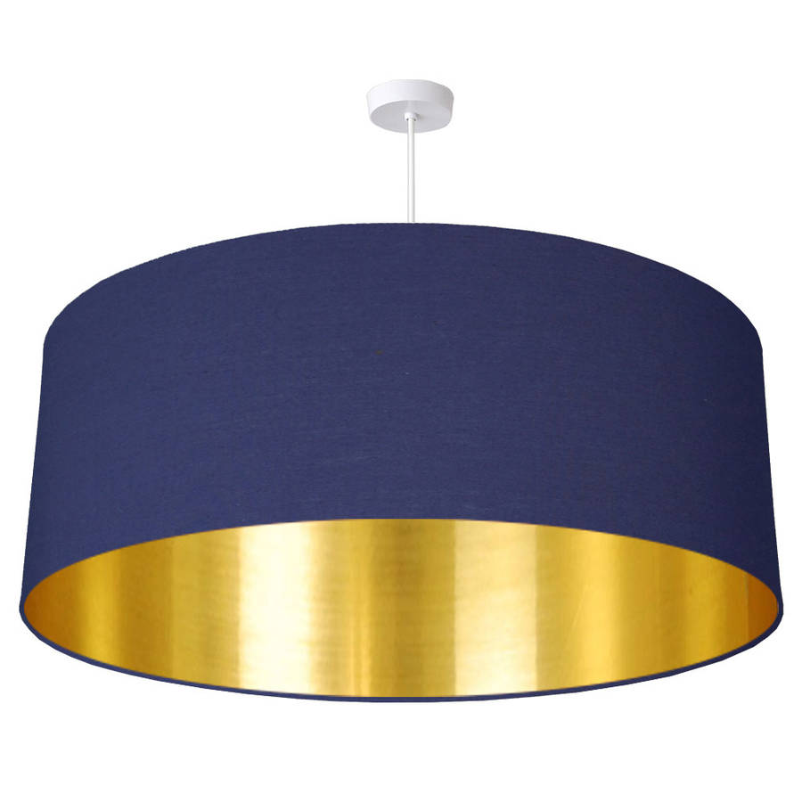 Oversize Gold Lined Ceiling Pendant Shade 40 Colours By