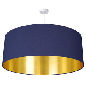 Oversize Brushed Gold Lined Ceiling Shade
