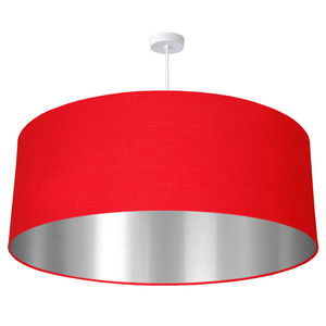 Oversize Brushed Silver Lined Ceiling Pendant Shade