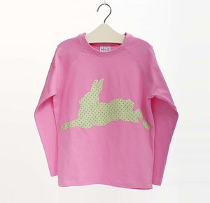 Children's Long Sleeve Bunny Top