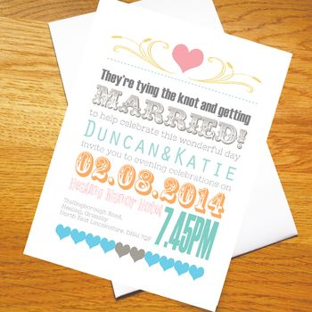 Love Letter Pastel Wedding Invitations