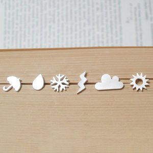 Weather Forecast Earring Studs In Sterling Silver