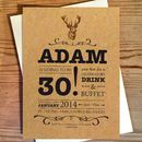 Stag Birthday Invitations
