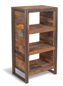 Boatwood Industrial Steel Chest - shelves