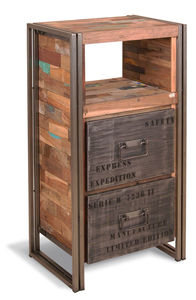 Boatwood Industrial Steel Chest Drawers - furniture