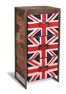 Boatwood Industrial Union Jack Drawers - furniture