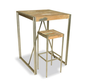 Boatwood Industrial High Bar Table - furniture