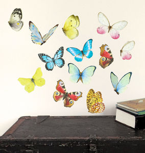 Watercolour Butterflies Wall Stickers Mini - bedroom