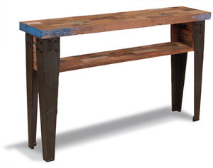 Boatwood Industrial Console Table - living room