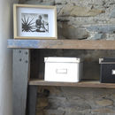 Boatwood Industrial Console Table