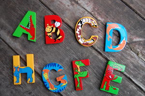 Animal Wooden Letters - children's room accessories