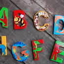 Animal Wooden Letters
