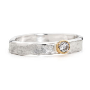 Designer Diamond Engagement Ring - diamonds