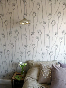 Poppy Pepper Pots Wallpaper