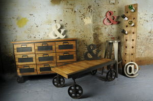 Industrial Apothecary Chest - dining room