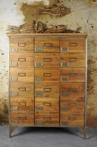 Large Industrial Apothecary Chest - bedroom