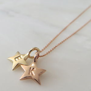 Gold Baby Star Necklace - gold & diamonds