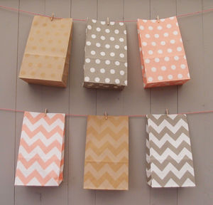 Stand Up Pastel Paper Bags Medium - party bag ideas