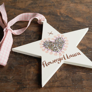 Personalised Wedding Or Christening Star - flower girl gifts