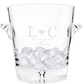 Glass Monogram Ice Bucket