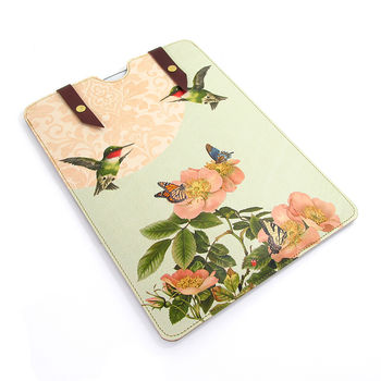 Summer Rose And Hummingbirds Case For iPad