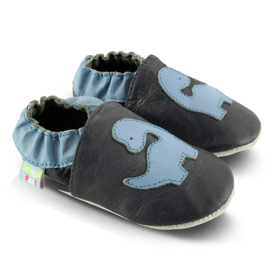 dinosaur soft leather baby shoes by snuggle feet