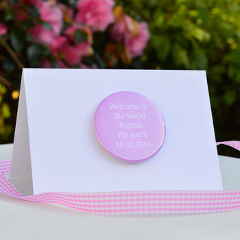 Personalised Welcome 'New Baby Girl' Card
