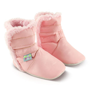 Classic Soft Leather Baby Boots - shoes & footwear