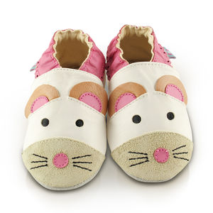 Mouse Soft Leather Baby Shoes - clothing