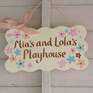 Personalised Playhouse Sign - door plaques & signs