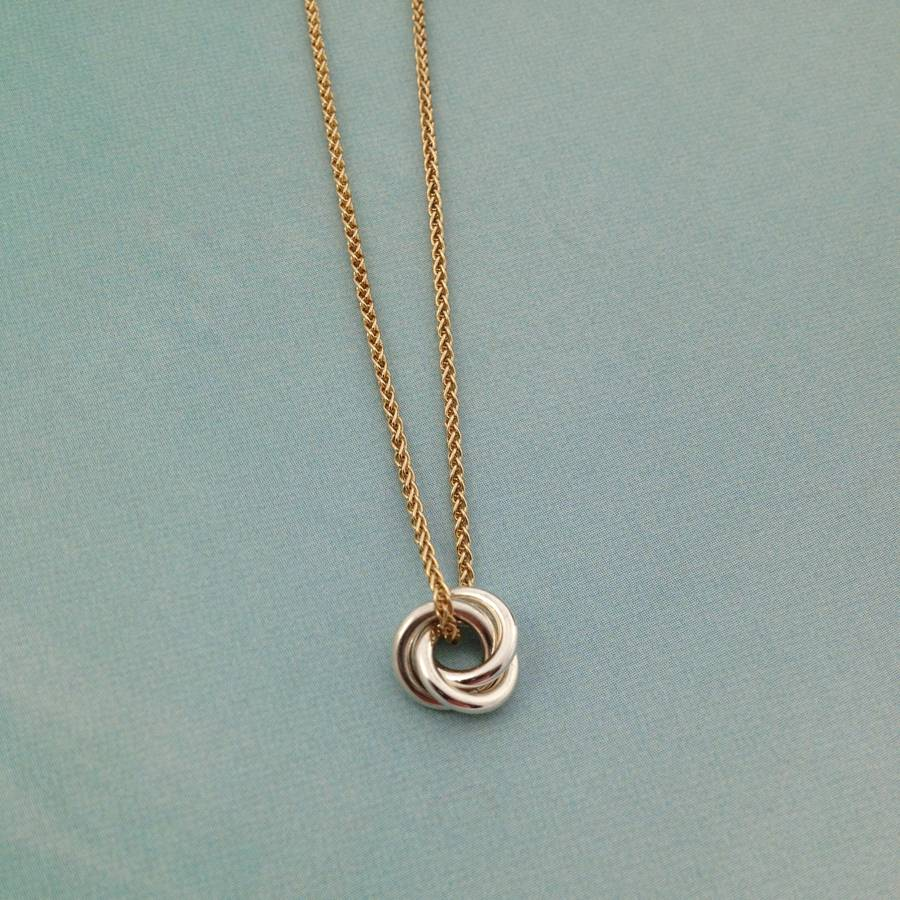 Eternity solid nine ct gold necklace by jessica greenaway silver eternity necklace on 9ct yellow gold chain aloadofball