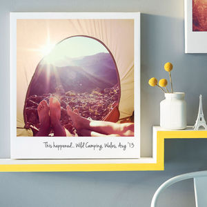 Personalised Giant Polaroid Canvas - gifts £50 - £100