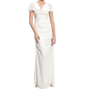 Sheath A Line Wedding Dress In Chiffon