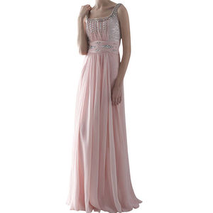 Pink Chiffon Prom Dress - women's sale