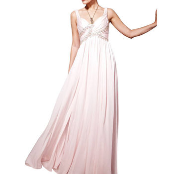 Jeweled Pink Bridesmaid Dress