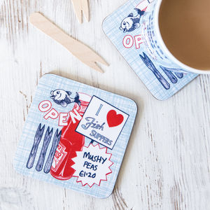 Fish And Chips Coaster