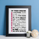 Personalised Family Attributes Print