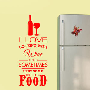 I Love Cooking With Wine - prints & art sale