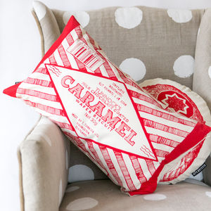 Caramel Wrapper Cushion - cushions