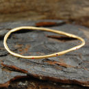 18k Gold Sapphire Birthstone Stacking Bangle