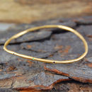 18k Gold Sapphire Peridot Wave Stacking Bangle