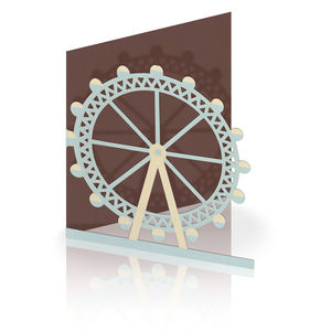 London Eye Laser Cut Greeting Card