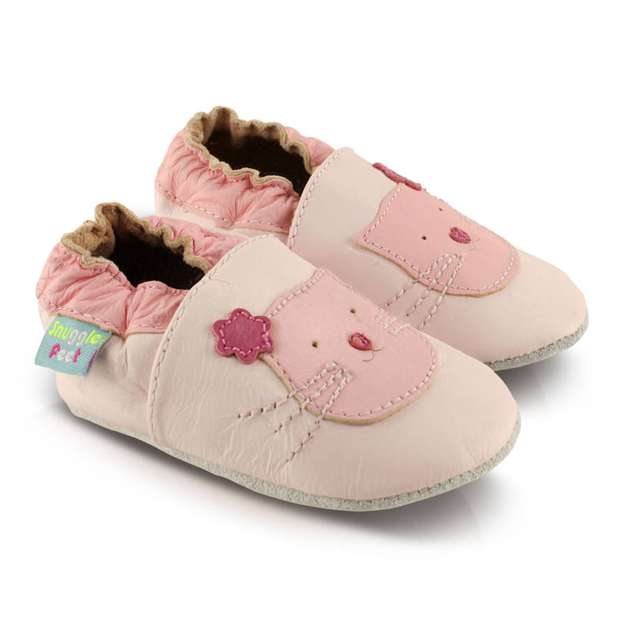 soft leather kitten baby shoes by snuggle feet
