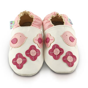 Birds Soft Leather Baby Shoes - clothing